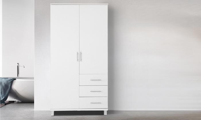 2 ארון בגדים עם 2 דלתות ו-3 מגירות ראמוס עיצובים