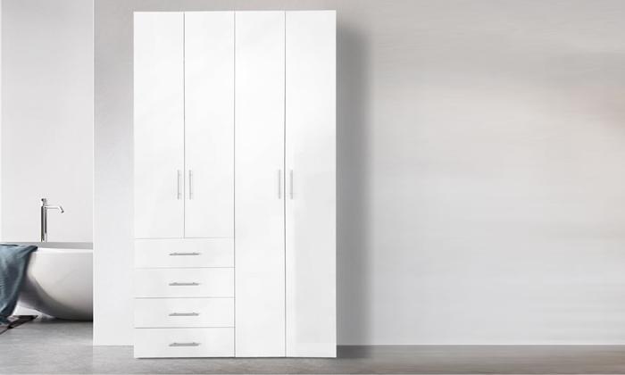 2 ארון בגדים עם 4 דלתות ו-4 מגירות ראמוס עיצובים