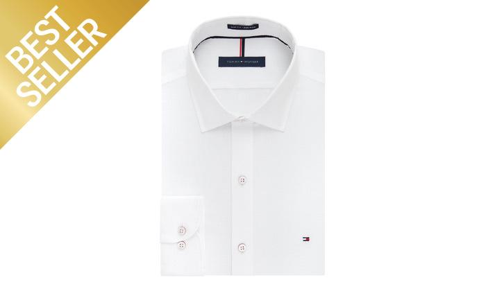 3 חולצה מכופתרת לגברים 100% כותנה TOMMY HILFIGER במבחר צבעים