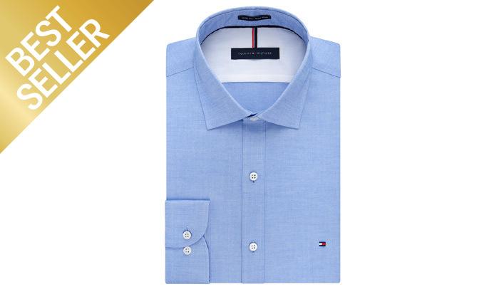 4 חולצה מכופתרת לגברים 100% כותנה TOMMY HILFIGER במבחר צבעים