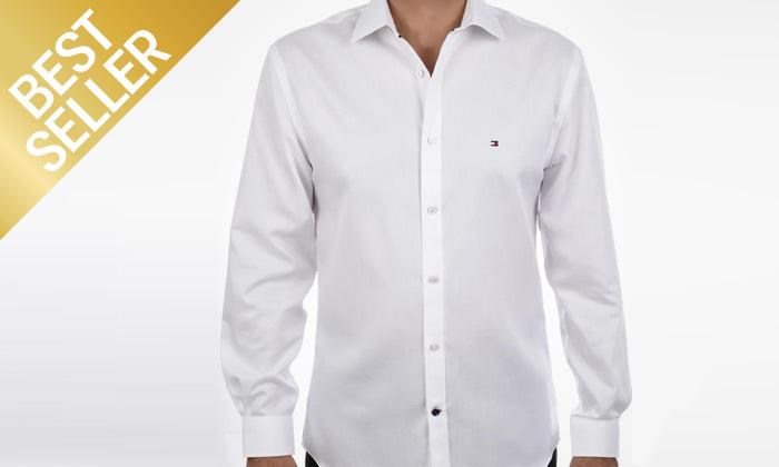 2 חולצה מכופתרת לגברים 100% כותנה TOMMY HILFIGER במבחר צבעים