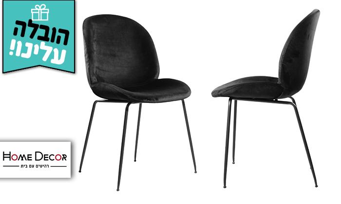 2 זוג כיסאות קטיפה HOME DECOR דגם אגם - משלוח חינם