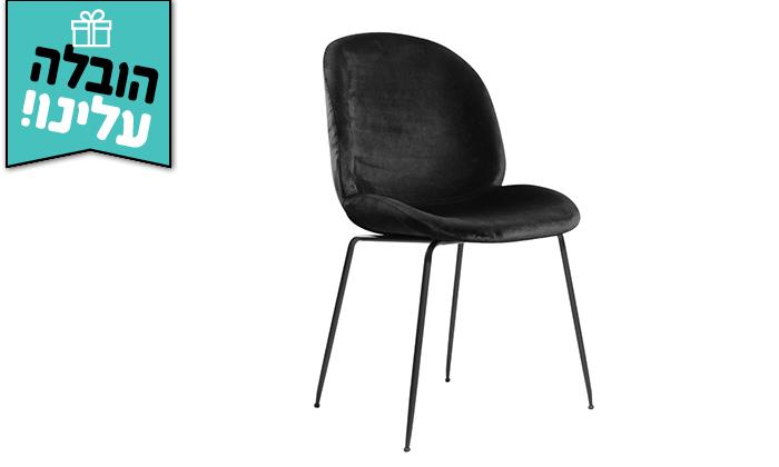 4 זוג כיסאות קטיפה HOME DECOR דגם אגם - משלוח חינם