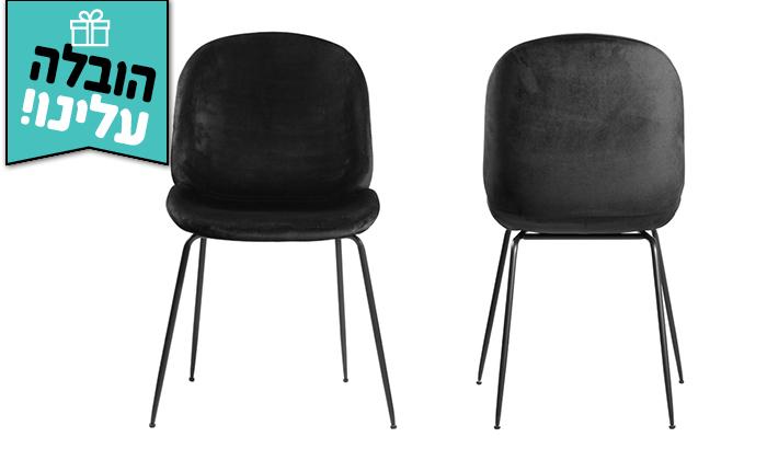3 זוג כיסאות קטיפה HOME DECOR דגם אגם - משלוח חינם