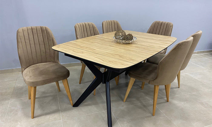 2 פינת אוכל עם שולחן ו-6 כיסאות OR design דגם גמביט