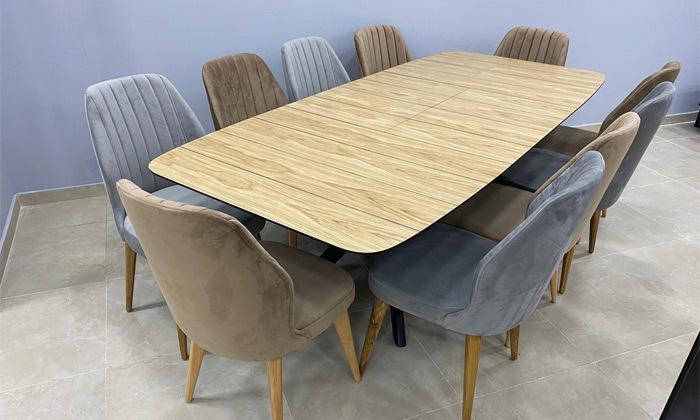 3 פינת אוכל עם שולחן ו-6 כיסאות OR design דגם גמביט