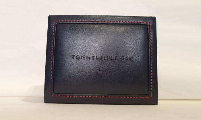 4 ארנק עור מקורי לגבר עם כרטיסוןTOMMY HILFIGER