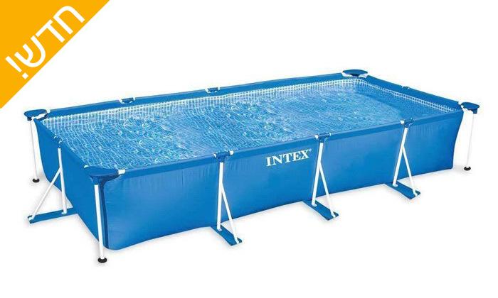 4 בריכת INTEXמלבנית באורך 4.5 מטרים