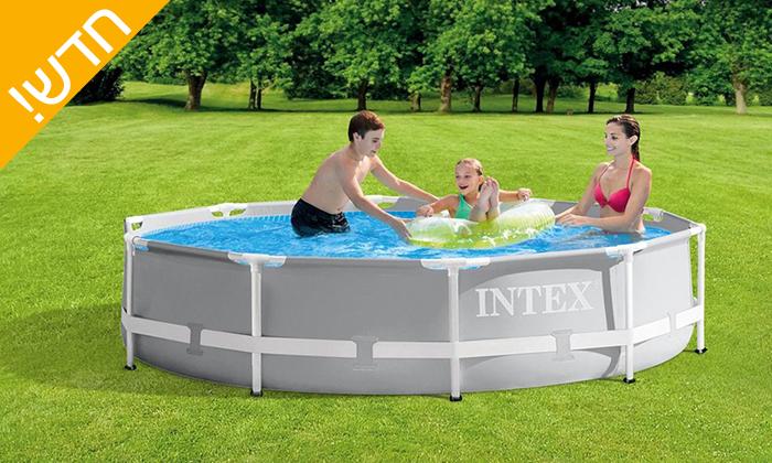 2 בריכת INTEX עגולה 3 מטרים