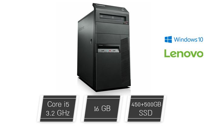 2 מחשב נייח מחודש לנובו Lenovo דגם M83Pעם זיכרון 16GB ומעבד i5