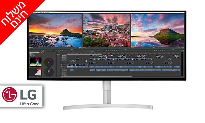 2 מסך מחשב רחב 34 אינץ' LG 5K - משלוח חינם