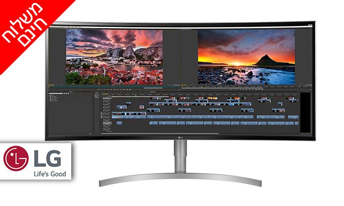 2 מסך מחשב רחב 38 אינץ' LG - משלוח חינם