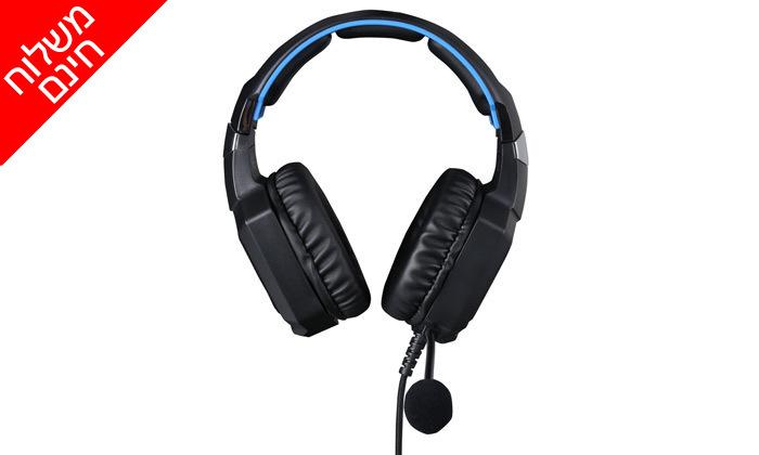2 אוזניות גיימינג HP דגםH320 - משלוח חינם