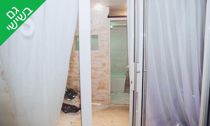 3 עיסוי ושהייה בחדר מלח, סאלט בוקס SALT BOX חיפה