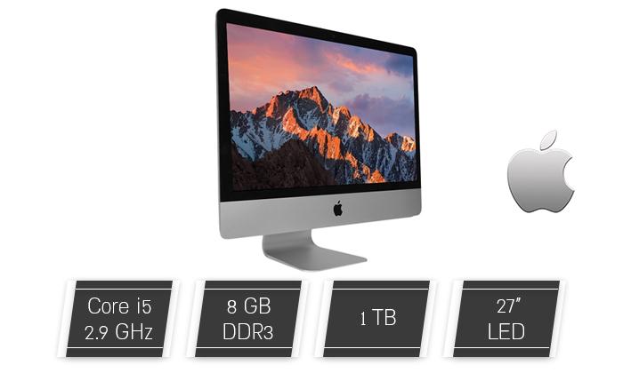 """2 מחשב נייח מוחדש Apple AIO מסדרת iMac עם מסך """"27, זיכרון 8GB ומעבד i5"""