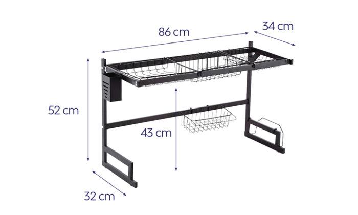 3 מתקן ייבוש כלים מעל הכיור
