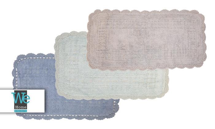 2 שטיח אמבטיה WE HOME דגם תחרה