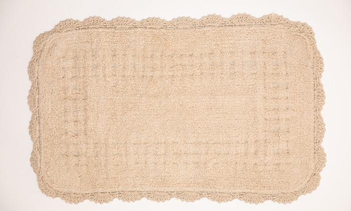 9 שטיח אמבטיה WE HOME דגם תחרה