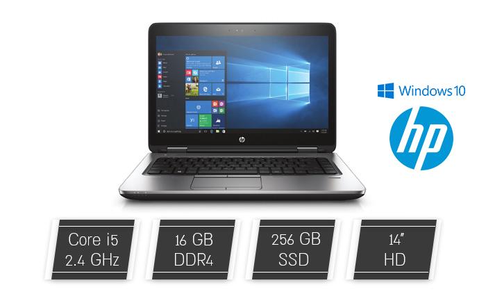 """2 מחשב נייד מחודש HP דגם 640 G2מסדרתProBook עם מסך """"14, זיכרון 16GB ומעבד i5"""