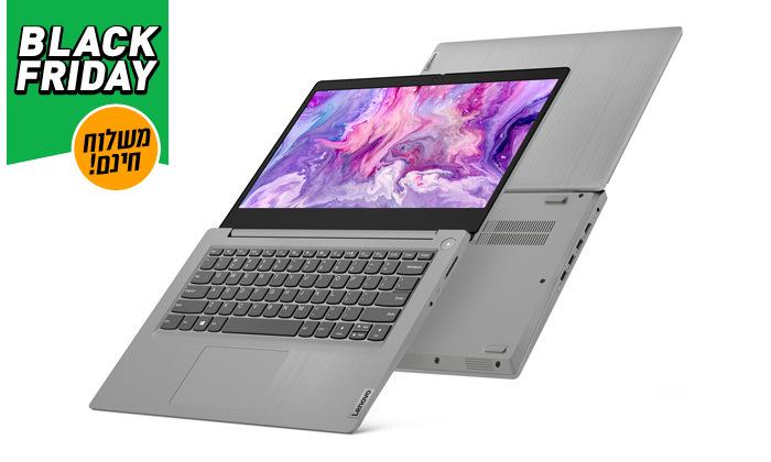 """3 מחשב נייד חדש Lenovo דגם IdeaPad 3 14IIL05 עם מסך """"14, זיכרון 8GB ומעבד i5 - משלוח חינם"""