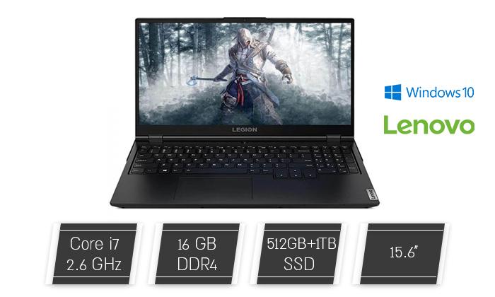 """2 מחשב נייד מעודפים לגיימרים Lenovo דגם LEGION 5 עם מסך """"15.6, זיכרון 16GB ומעבד i7"""