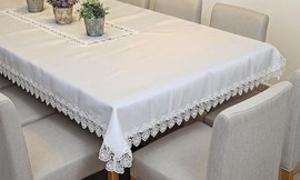 מפת שולחן רקומה במבחר מידות
