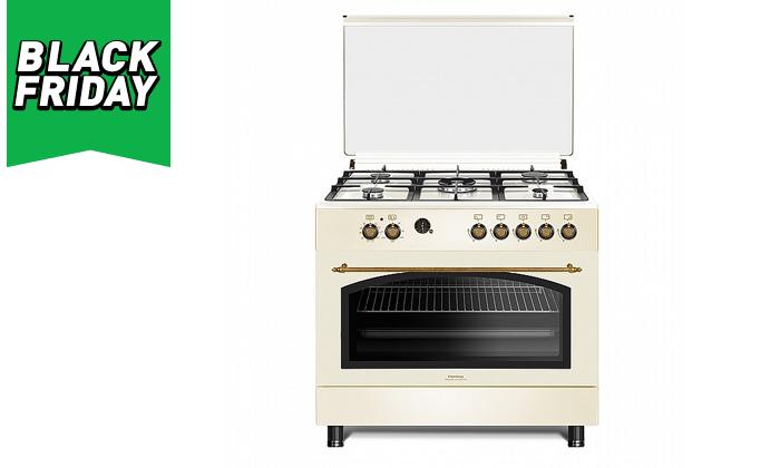 2 תנור 110 ליטר עם כיריים גז Peerless בעיצוב כפרי
