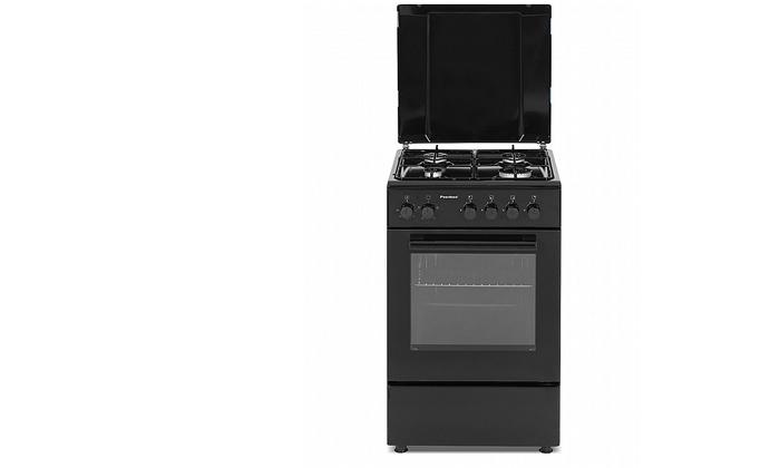 2 תנור 50 ליטר עם כיריים גז Peerless בצבע שחור