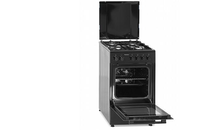 3 תנור 50 ליטר עם כיריים גז Peerless בצבע שחור