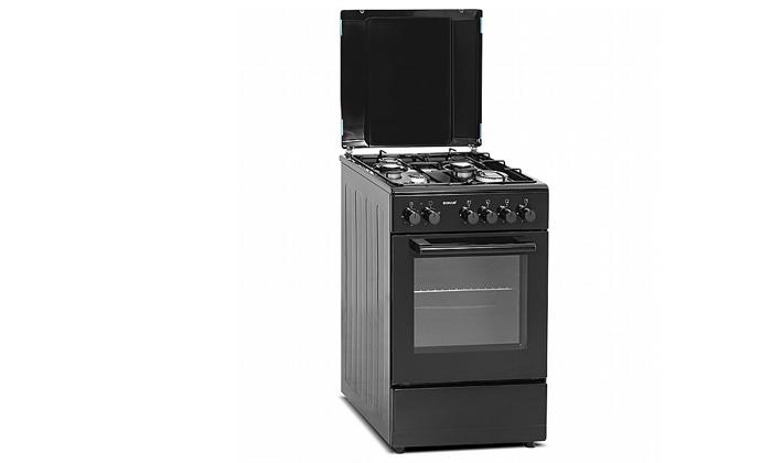 3 תנור 50 ליטר עם כיריים גז Sonab בצבע שחור