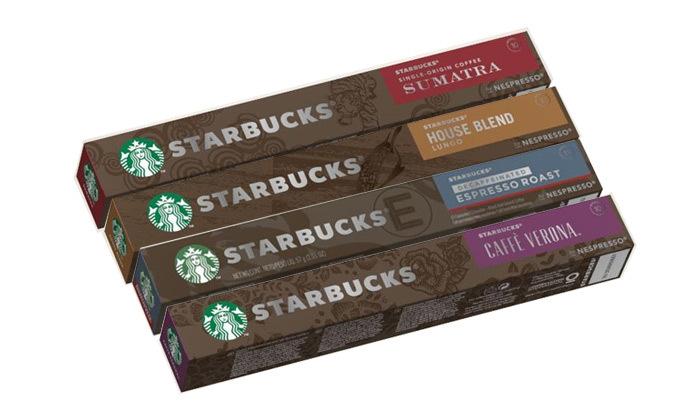 2 קפה סטארבקס STARBUCKS: מארז 50/100 קפסולות במבחר טעמים