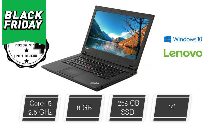 """2 מחשב נייד מחודש Lenovo, דגם ThinkPad L440עם מסך """"14, זיכרון 8GB ומעבד i5"""