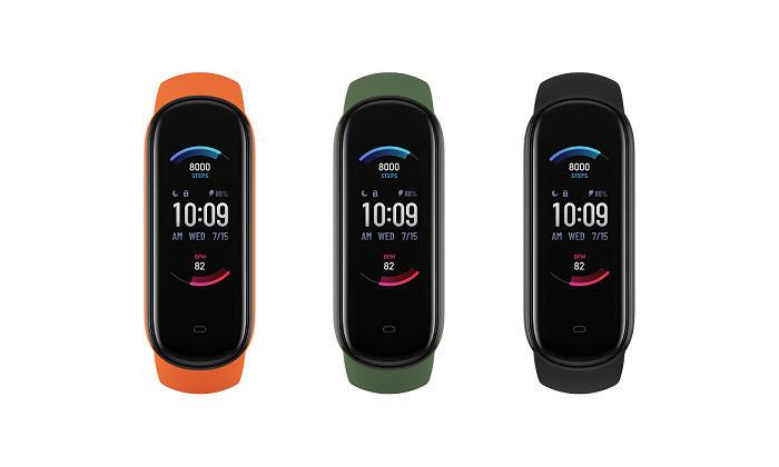 2 שעון כושר חכם Amazfit מסדרת Band 5 במבחר צבעים - משלוח חינם