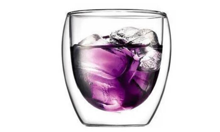 2 כוסות דופן כפולה לשתייה חמה או קרה