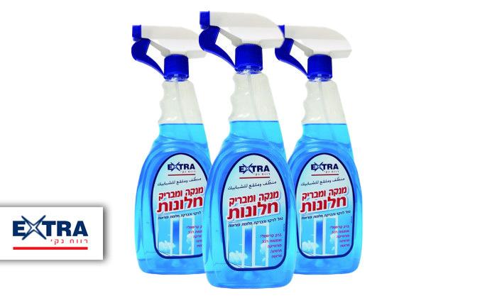 2 מארז 3 בקבוקי נוזל לניקוי חלונות EXTRA