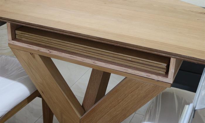 3 שולחן אוכל עגול נפתח ו-4 כיסאות OR design דגם אזמרגד