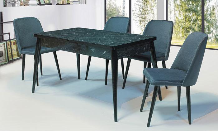 2 שולחן אוכל נפתח ו-4 כיסאות OR design דגם מנסלו