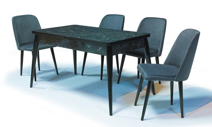 4 שולחן אוכל נפתח ו-4 כיסאות OR design דגם מנסלו