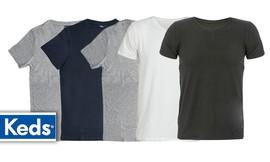 5 חולצות כותנה לגברים KEDS