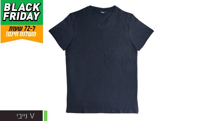 4 דיל לזמן מוגבל: מארז 5 חולצות טי 100% כותנה KEDS לגברים במבחר דגמים וצבעים - משלוח חינם
