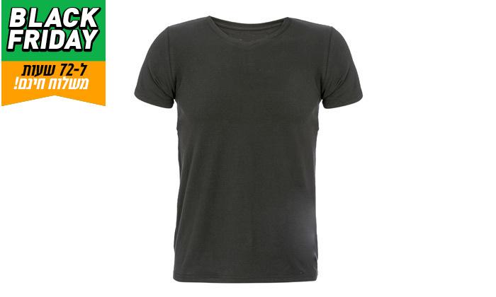11 דיל לזמן מוגבל: מארז 5 חולצות טי 100% כותנה KEDS לגברים במבחר דגמים וצבעים - משלוח חינם