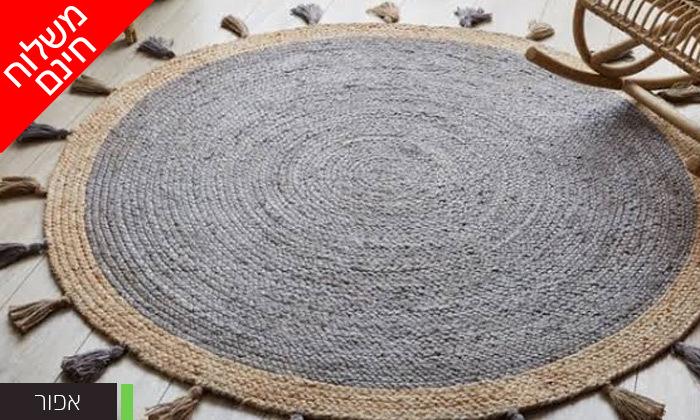 3 שטיח חבל עגול WE HOME דגם קאריבו במבחר גדלים - משלוח חינם