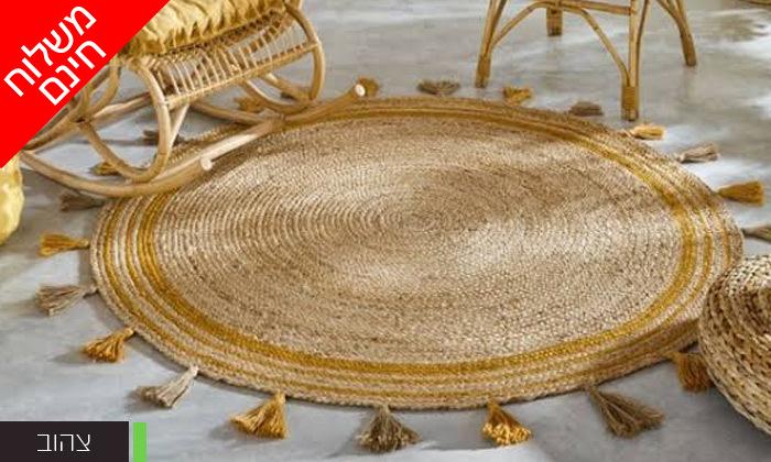 5 שטיח חבל עגול WE HOME דגם קאריבו במבחר גדלים - משלוח חינם