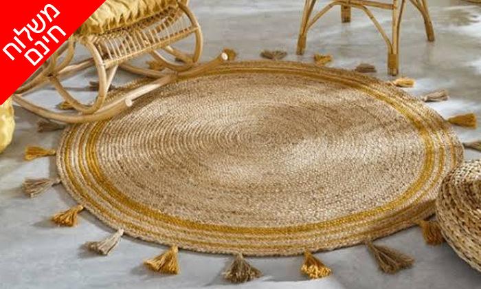 6 שטיח חבל עגול WE HOME דגם קאריבו במבחר גדלים - משלוח חינם
