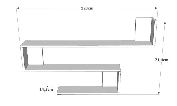 3 מדף קיר ראמוס עיצובים, דגם סנייק