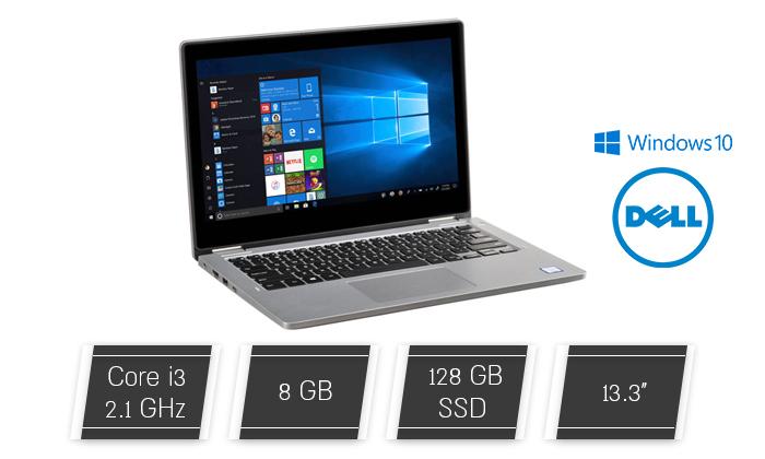 """2 מחשב נייד מחודש DELL דגם Latitude 3310 עם מסך """"13.3, זיכרון 8GB ומעבד i3 - משלוח חינם"""