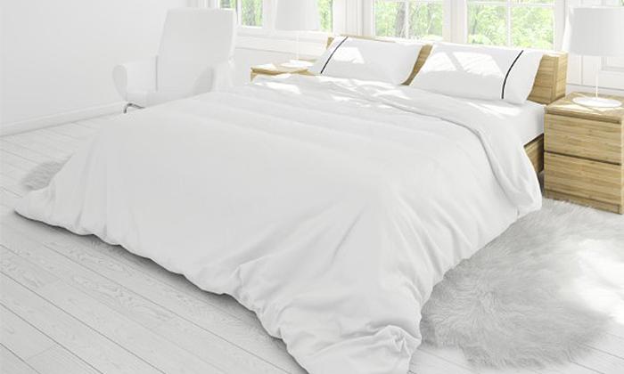 4 סט מצעים סאטן 100% כותנה למיטה זוגית ערד טקסטיל - כולל 4 ציפיות