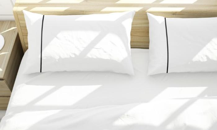 3 סט מצעים סאטן 100% כותנה למיטה זוגית ערד טקסטיל - כולל 4 ציפיות