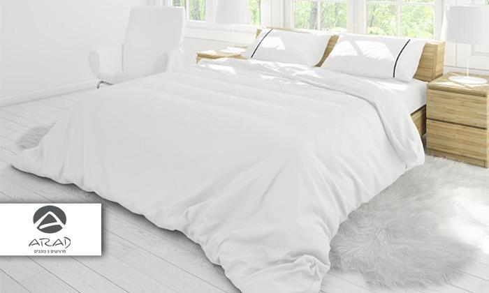 2 סט מצעים סאטן 100% כותנה למיטה זוגית ערד טקסטיל - כולל 4 ציפיות