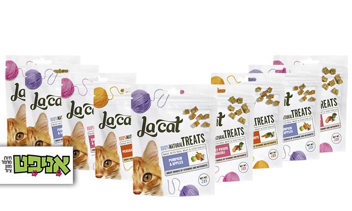 2 9 חבילות חטיפי לה קט לחתולים במבחר טעמים